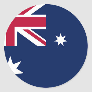 Bandera australiana pegatina redonda