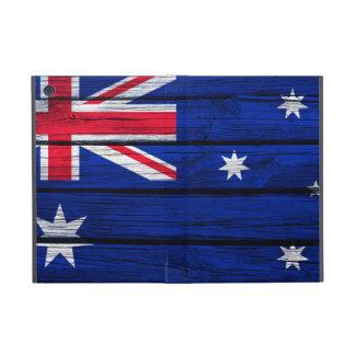 Bandera australiana pintada en la madera rústica iPad mini protector