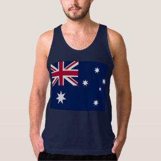 Bandera australiana playera de tirantes