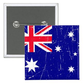 Bandera australiana rascada y rasguñada pin
