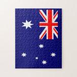 Bandera australiana rompecabezas con fotos