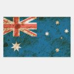 Bandera australiana rugosa etiqueta