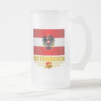 Bandera austríaca 2 taza de cristal