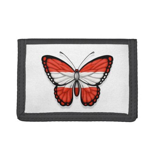 Bandera austríaca de la mariposa