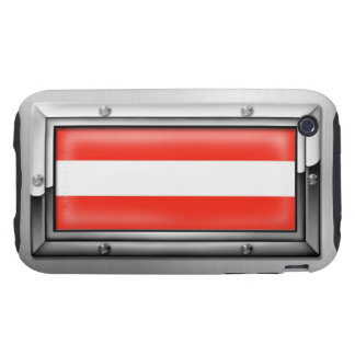 Bandera austríaca en un marco de acero tough iPhone 3 carcasa