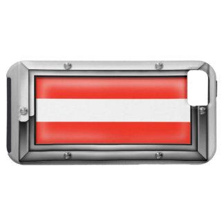 Bandera austríaca en un marco de acero funda para iPhone SE/5/5s
