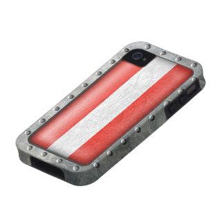 Bandera austríaca industrial vibe iPhone 4 carcasas
