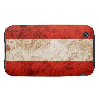 Bandera austríaca rugosa tough iPhone 3 cárcasa