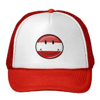 Bandera austríaca sonriente gorras