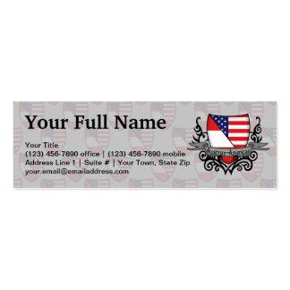 Bandera Austríaco-Americana del escudo Tarjetas De Visita Mini