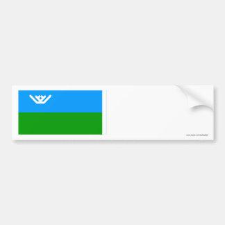 Bandera autónoma de Khantia-Mansi Okrug Pegatina Para Auto