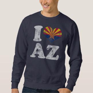 Bandera AZ de Arizona del corazón I Pullover Sudadera