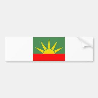 Bandera azteca etiqueta de parachoque