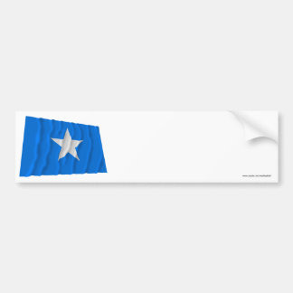 Bandera azul de Bonnie/al oeste bandera de la repú Pegatina De Parachoque