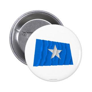 Bandera azul de Bonnie/al oeste bandera de la repú Pin Redondo De 2 Pulgadas