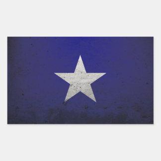 Bandera azul de Bonnie Pegatina Rectangular