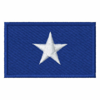 Bandera azul de Bonnie Sudadera Bordada Con Cremallera