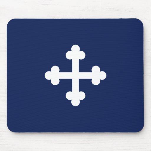 Bandera azul de Bottony Tapetes De Ratón