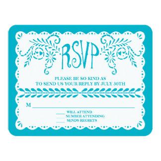 """Bandera azul del boda de la fiesta de la piscina invitación 4.25"""" x 5.5"""""""