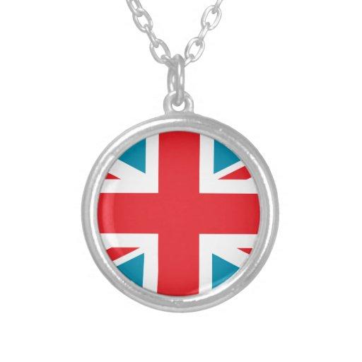 Bandera azul marino de Union Jack Británicos (Rein Pendiente Personalizado