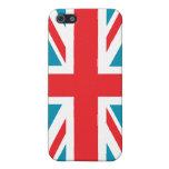 Bandera azul marino de Union Jack Británicos (Rein iPhone 5 Carcasas