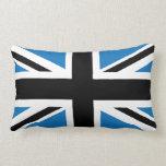 Bandera azul marino fresca de Union Jack Británico Cojin