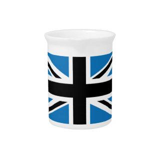 Bandera azul marino fresca de Union Jack Británico Jarrón