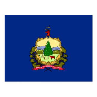Bandera azul y escudo de armas de Vermont Postal