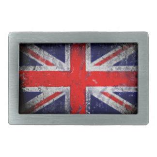 Bandera azul y roja de Inglaterra Hebillas Cinturon Rectangulares