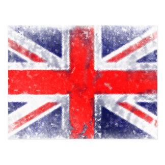 Bandera azul y roja de Inglaterra Postal