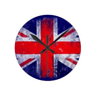 Bandera azul y roja de Inglaterra Reloj Redondo Mediano