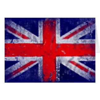 Bandera azul y roja de Inglaterra Tarjeta De Felicitación