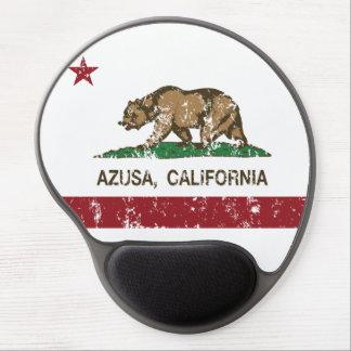 Bandera Azusa del estado de California Alfombrillas De Ratón Con Gel