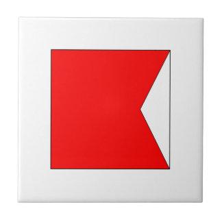Bandera B del ICS Azulejo Cuadrado Pequeño