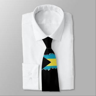 Bandera bahamesa clásica corbata personalizada