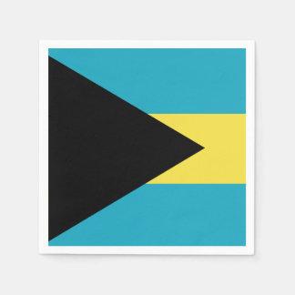 Bandera bahamesa clásica servilleta desechable