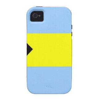 Bandera bahamesa iPhone 4/4S carcasas