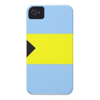 Bandera bahamesa iPhone 4 Case-Mate protector