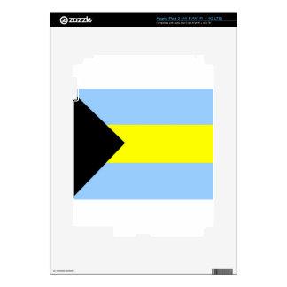 Bandera bahamesa iPad 3 skin