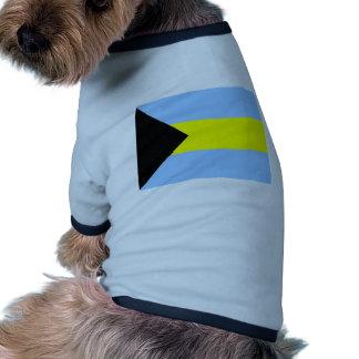 Bandera bahamesa camiseta con mangas para perro
