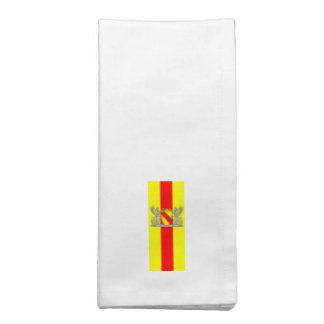 Bandera bañada escudo de armas De Baden Servilleta Imprimida