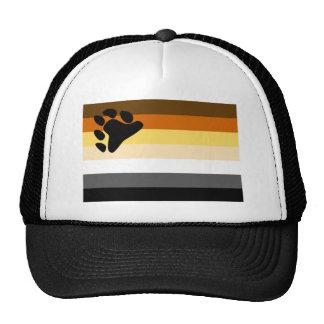 Bandera básica del orgullo del oso gorros bordados