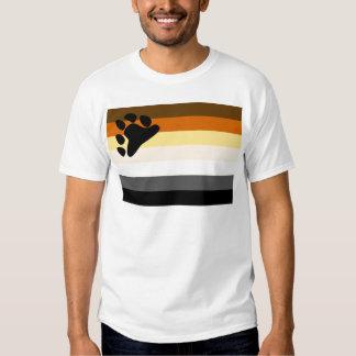 Bandera básica del orgullo del oso poleras