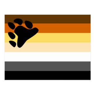 Bandera básica del orgullo del oso tarjeta postal
