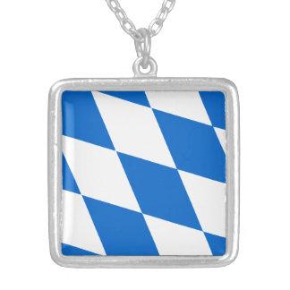 Bandera bávara Baviera Colgante Cuadrado