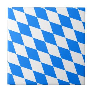 Bandera bávara - Bayerische Flagge Azulejo Cuadrado Pequeño