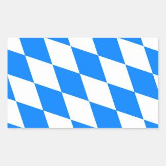 Bandera bávara - Bayerische Flagge Pegatina Rectangular