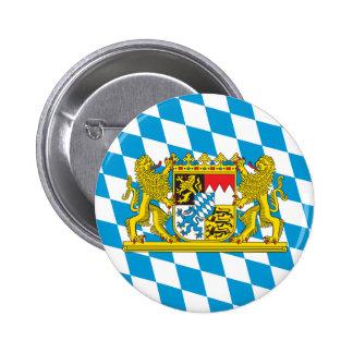 Bandera bávara colorida pin redondo de 2 pulgadas
