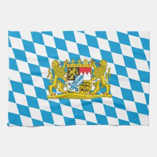 Bandera bávara colorida toallas de cocina