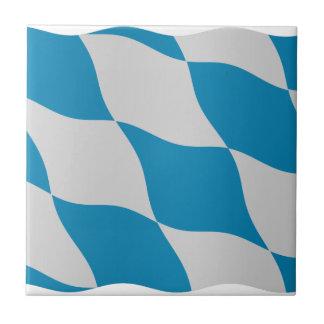 Bandera bávara - fondo transparente azulejo cuadrado pequeño